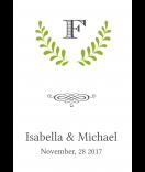 Klebe-Etiketten Laurel 68 x 98 mm grün
