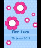 Klebe Etiketten Cherry Blossom 68 x 98 mm blau