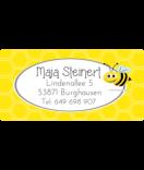 wasserfeste Aufkleber mit Namen Biene gelb 50 x 25 mm