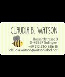 Adressaufkleber mit Biene 50 x 25 mm