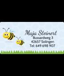 wasserfeste Aufkleber mit Namen Biene 50 x 25 mm