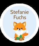 Kleine Namensaufkleber rund wasserfest Fuchs 25 mm