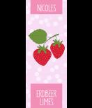 Erdbeer Etiketten Sweet Fruits 30 x 80 mm