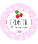 Erdbeer Etiketten rund Sweet Fruits 30 mm