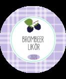 Brombeer Etiketten rund Sweet Fruits 40 mm