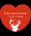 Klebe-Etiketten Herz Hello Deer 44 x 39 mm