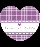 Herz-Aufkleber Country Living lavendel 44 x 39,2 mm