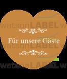 Aufkleber Hochzeit Herz braun 44 x 39,2 mm