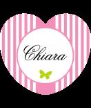 Candy Stripes Aufkleber Herz rosa 44 x 39,2