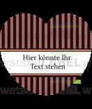 Herz-Aufkleber Vintage Stripes braun 44 x 39,2