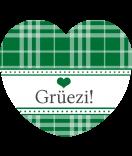Herz-Aufkleber Country Living grün 44 x 39 mm