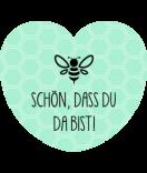 Aufkleber Herz Easy Bee 44 x 39 mm mint