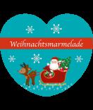 Etiketten Weihnachten Herz Santa 44 x 39 mm