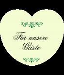 Aufkleber Herz Classic Style grün 44 x 39 mm
