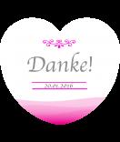 Aufkleber Herz Ombres 44 x 39 mm pink