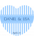 Anhänge-Etiketten Herz Candy Stripes 44 x 39 mm blau
