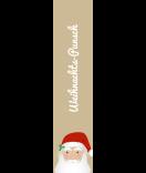 Klebe-Etiketten Santa 30 x 130 mm braun