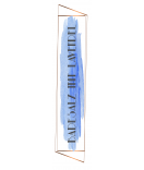 Flaschenetiketten Watercolor Splash 30 x 130 mm blau