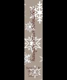 Klebe-Etiketten Snowflakes 30 x 130 mm braun