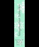 Klebe-Etiketten Snowflakes 30 x 130 mm mint