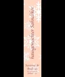 Klebe-Etiketten Snowflakes 30 x 130 mm lachsrosa