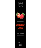 Erdbeer Etiketten Farmers Market 30 x 130 mm schwarz