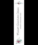Klebe-Etiketten Rustic Christmas 30 x 130 mm weiss