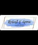 Klebe-Etiketten Watercolor Splash 50 x 20 mm blau