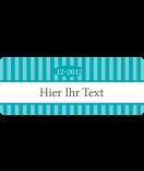 Klebe-Etiketten Vintage Stripes türkis 50 x 20