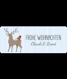Weihnachtsetiketten Swee Christmas 50 x 20 mm Hirsch