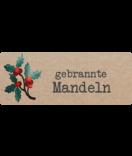 Klebe Etiketten Vintage Christmas 50 x 20 mm Kraftpapier