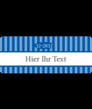 Klebe-Etiketten Vintage Stripes blau 50 x 20