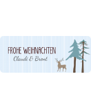 Weihnachtsetiketten Sweet Christmas 50 x 20 mm Winterwald