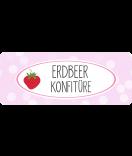 Erdbeer Etiketten Sweet Fruits 50 x 20 mm