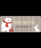 Weihnachtsetiketten Sweet Christmas 50 x 20 mm Bär