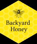 sechseckige Honigetiketten 39 x 45 mm gelb