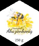sechseckige Honigetiketten 39 x 45 mm
