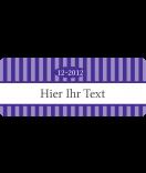 Klebe-Etiketten Vintage Stripes violett 50 x 20