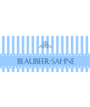 Klebe-Etiketten Candy Stripes 50 x 20 mm blau