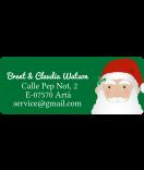 Adressaufkleber Santa 50 x 20 mm grün