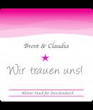 Klebe-Etiketten Ombres 50 x 50 mm pink