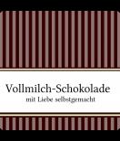 Klebe-Etiketten Vintage Stripes braun 50 x 50