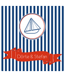 Klebe-Etiketten Nautical 50 x 50 mm Boot