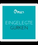 Omas Klebe-Etiketten türkis 50 x 50 mm