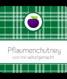 Klebe-Etiketten Sweet Fruits Pflaume 50 x 50 mm