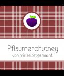 Klebe-Etiketten Sweet Fruits 50 x 50 mm Pflaume weinrot