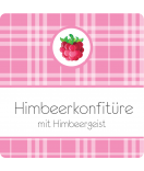 Klebe-Etiketten Sweet Fruits Himbeere 50 x 50 mm