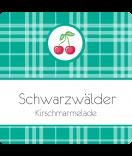 Klebe-Etiketten Sweet Fruits Kirsche 50 x 50 mm