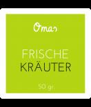 Omas Klebe-Etiketten grün 50 x 50 mm