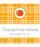 Klebe-Etiketten Sweet Fruits Orange 50 x 50 mm